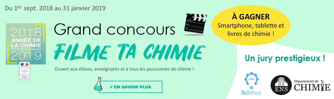 Concours Filme ta chimie