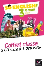 So English! - Anglais 3e Éd. 2017 - Coffret CD / DVD classe