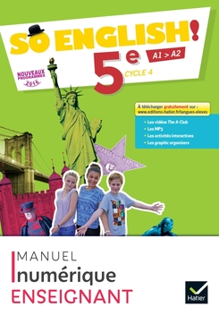 So English Anglais 5e Ed 2017 Manuel Numerique Enrichi Enseignant Workbook Editions Hatier