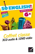 So English! Anglais 6e éd. 2015 - Coffret CD audio classe + DVD vidéo